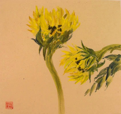 Toinette Lippe painting - Sunflowers 1