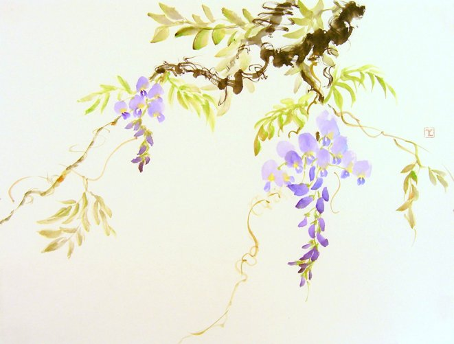 Toinette Lippe painting - Wisteria 2