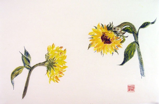 Toinette Lippe painting - Sunflowers 2