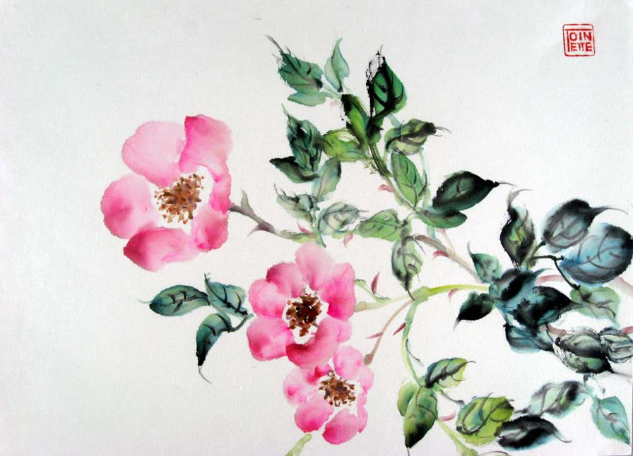 Toinette Lippe painting - Wild Roses