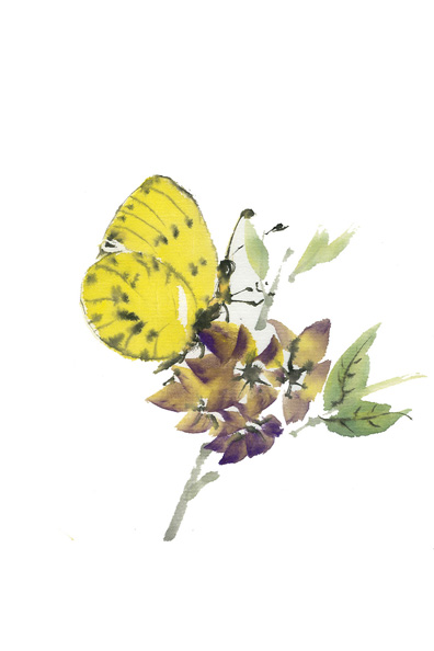 Toinette Lippe painting - Yellow Butterfly