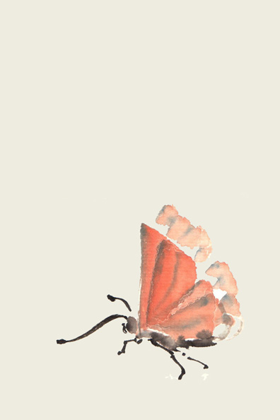 Toinette Lippe painting - Red Butterfly