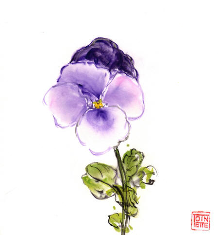 Toinette Lippe painting - Pansy