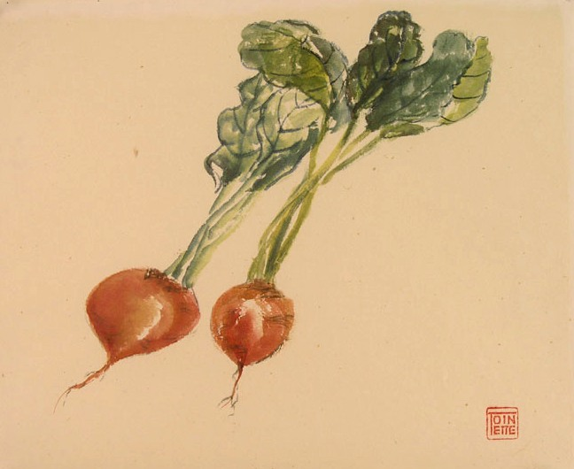 Toinette Lippe painting - Golden Beets 2