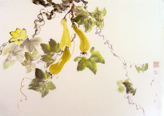 Toinette Lippe painting - Yellow Gourds