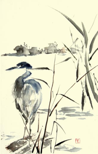 Toinette Lippe painting - Heron 1