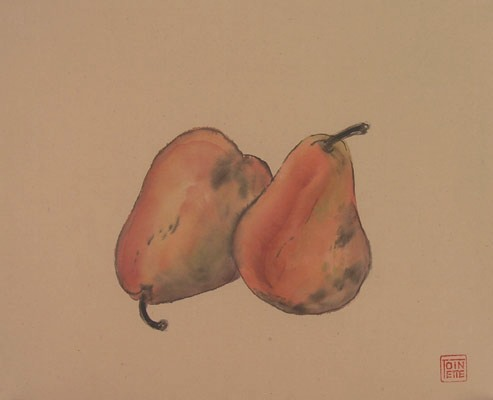 Toinette Lippe painting - Red Pears