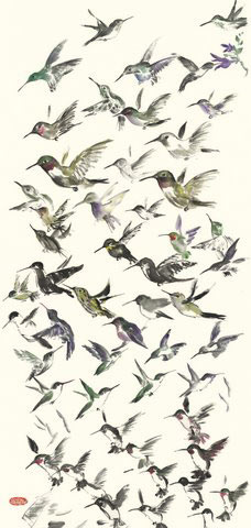 Toinette Lippe painting - Hummingbird Sketches