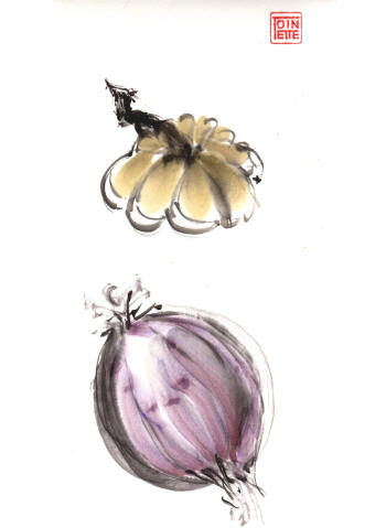 Toinette Lippe painting - Pumpkin and Onion