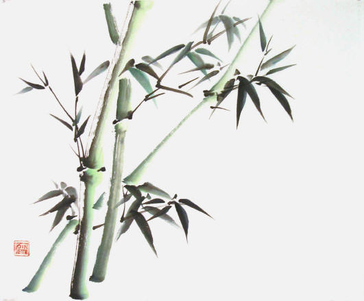 Toinette Lippe painting - Green Bamboo