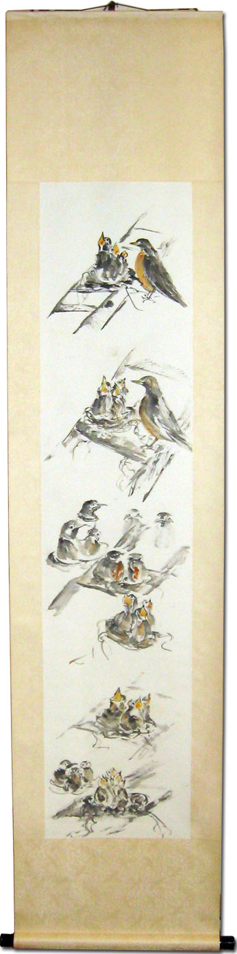 Toinette Lippe painting - Robing Sketches Scroll