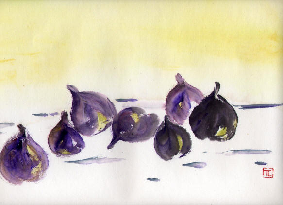 Toinette Lippe painting - A Conversation of Figs