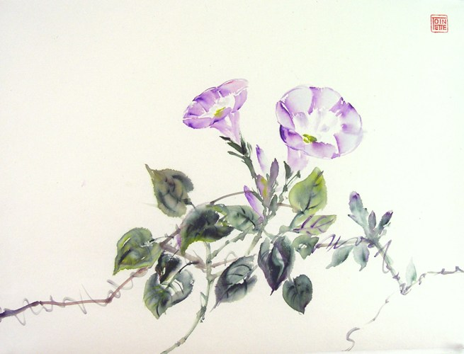 Toinette Lippe painting - Morning Glories