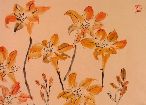 Toinette Lippe painting - Day Lillies