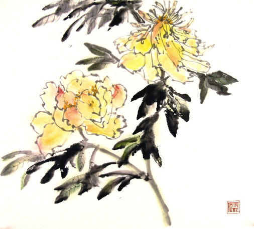 Toinette Lippe painting - Yellow Peonies