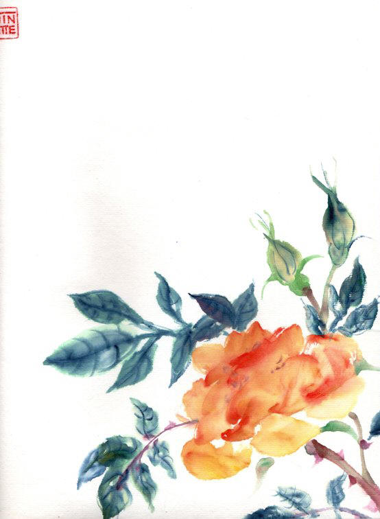 Toinette Lippe painting - Roses