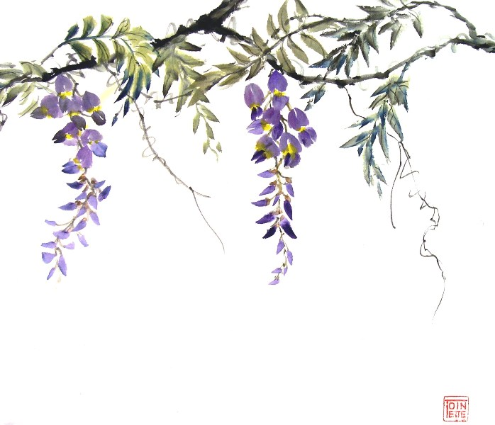 Toinette Lippe painting - Wisteria