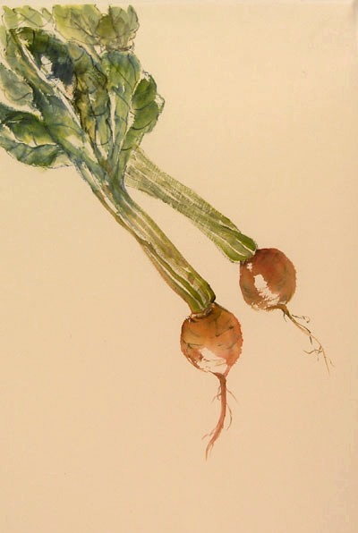 Toinette Lippe painting - Golden Beets