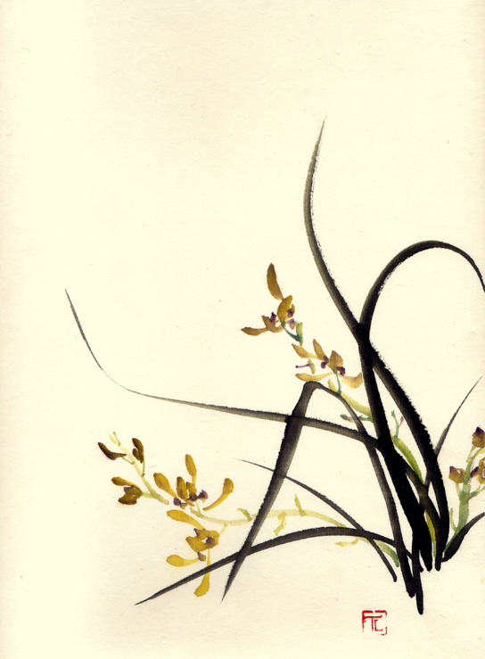 Toinette Lippe painting - Wild Orchids