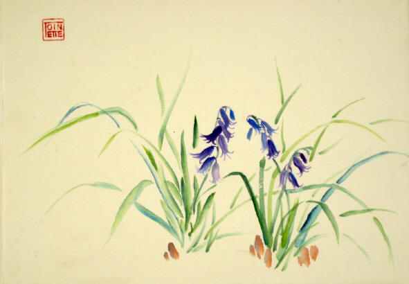 Toinette Lippe painting - English Bluebells