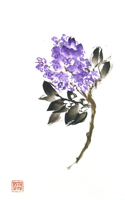 Toinette Lippe painting - Lilac