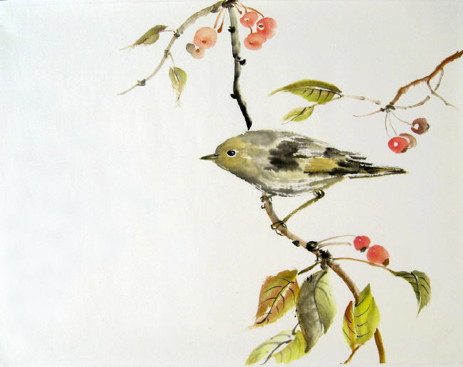 Toinette Lippe painting - Golden-crowned Kinglet