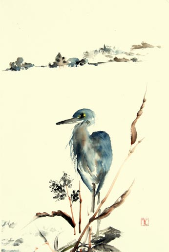 Toinette Lippe painting - Heron 2