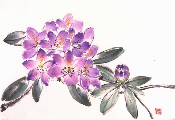 Tointte Lippe painting - Rhododendron
